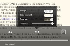 tilpas læseindstillinger i e-bøger